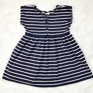 Hanna Andersson Striped 100% Cotton Dress 110